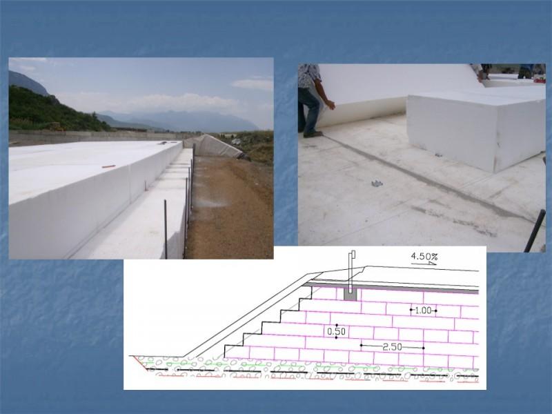 1η εφαρμογή  διογκωμένης πολυστερίνης για την κατασκευή οδικών επιχωμάτων