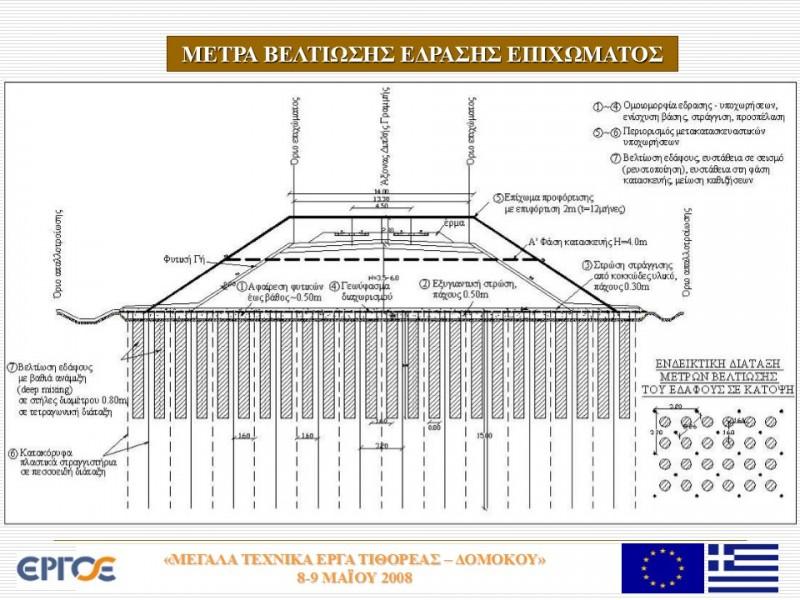 1η εφαρμογή μεθόδου βαθιάς ανάμιξης για την βελτίωση εδαφών έδρασης οδικών έργων